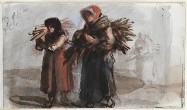 Three unknown women carrying bundles of sticks, by Louisa Anne Beresford - NPG D23146(68)
