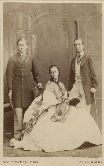 King Edward VII; Queen Alexandra; George I, King of Greece, by Southwell Brothers, October 1863 - NPG Ax24438 - © National Portrait Gallery, London