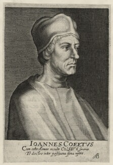 John Colet, by Magdalena de Passe, by  Willem de Passe - NPG D23147