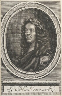 Sir William Davenant, by William Faithorne, after  John Greenhill, published 1672 - NPG D22719 - © National Portrait Gallery, London
