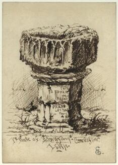 Fonte of Edward the Confessor, by George Estall - NPG D23156