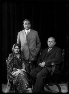 Mrs Hansa Mehta; Jivraj Narayan Mehta; Sir Manubhai Nandshankar Mehta, by Bassano Ltd - NPG x150710