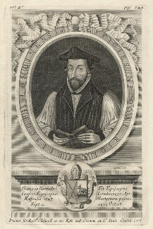 Nicholas Ridley, by Robert White, printed for  Richard Chiswell - NPG D23154