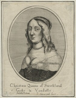 Christina, Queen of Sweden, by Richard Gaywood, published by  Peter Stent, after  David Beck - NPG D23243
