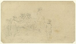 Eight unknown sitters in a boat, by George Estall - NPG D23158