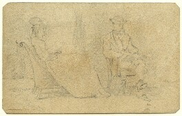 Unknown man and woman, by George Estall - NPG D23160