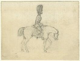 Guardsman on a horse, by George Estall - NPG D23163