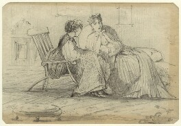 Two unknown women, by George Estall - NPG D23166