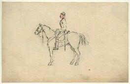 Unknown cavalryman on horseback, by George Estall - NPG D23168