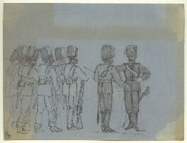 Unknown guardsmen, by George Estall - NPG D23172