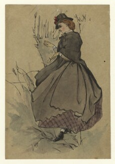 Figure study of an unknown woman, by George Estall, late 19th century - NPG  - © National Portrait Gallery, London