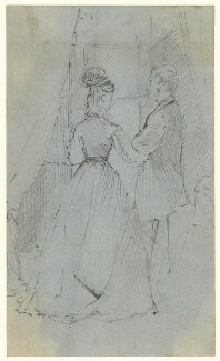 Study of an unknown man and woman, by George Estall, late 19th century - NPG  - © National Portrait Gallery, London