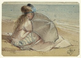 Study of an unknown woman on the beach, by George Estall, late 19th century - NPG  - © National Portrait Gallery, London