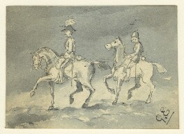 Two unknown soldiers on horseback, by George Estall, late 19th century - NPG  - © National Portrait Gallery, London
