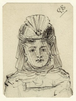 Sketch of an unknown woman, by George Estall, late 19th century - NPG  - © National Portrait Gallery, London
