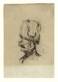 Sketch of an unknown guardsman, by George Estall, late 19th century - NPG  - © National Portrait Gallery, London