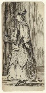 Figure study of an unknown woman, by George Estall, late 19th century - NPG D23211 - © National Portrait Gallery, London