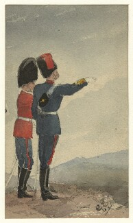 Unknown guardsman and liveryman, by George Estall, late 19th century - NPG  - © National Portrait Gallery, London