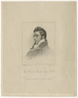 Sir Thomas Fowell Buxton, 1st Bt, by James Thomson (Thompson), after  Abraham Wivell, (1821) - NPG D20845 - © National Portrait Gallery, London