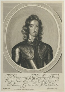 Thomas Fairfax, 3rd Lord Fairfax of Cameron, by William Faithorne, published by  Thomas Rowlett, after  Robert Walker - NPG D22731