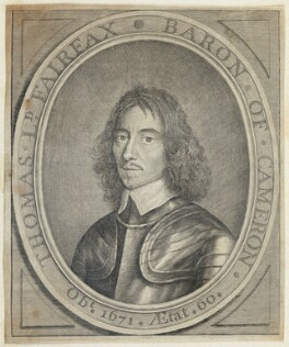 Thomas Fairfax, 3rd Lord Fairfax of Cameron, after William Faithorne, after  Robert Walker - NPG D22733