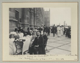 'Luncheon Party on the terrace of the House of Commons', by Benjamin Stone - NPG x128583
