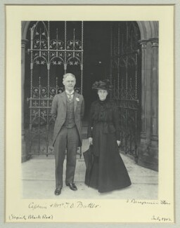 Sir Thomas Dacres Butler; Nina Helen (née Elliot), Lady Butler, by Benjamin Stone - NPG x128584