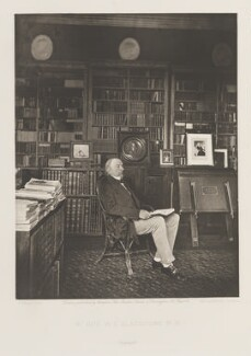William Ewart Gladstone, by and published by Sampson Low, Marston, Searle and Rivington, after  Joseph Parkin Mayall - NPG Ax27813
