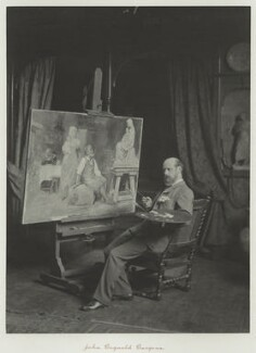 John Bagnold Burgess, by Ralph Winwood Robinson, published by  C. Whittingham & Co, circa 1889, published 1892 - NPG x7355 - © National Portrait Gallery, London