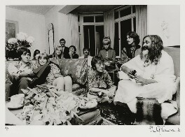 The Beatles with Maharishi Mahesh Yogi, by Philip Townsend - NPG x128616