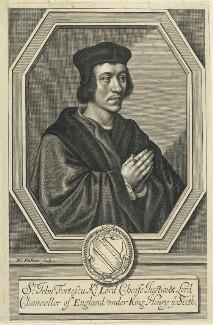 Sir John Fortescue, by William Faithorne - NPG D22739