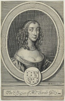 Sarah Gilly, by William Faithorne, after  Sir Peter Lely - NPG D22741