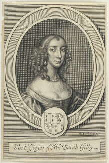 Sarah Gilly, by William Faithorne, after  Sir Peter Lely - NPG D22742