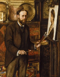John Collier, by Marian Collier (née Huxley), circa 1882-1883 - NPG  - © National Portrait Gallery, London