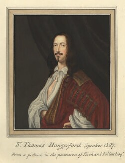 Unknown man called Sir Thomas Hungerford, attributed to Thomas Athow, after  Unknown artist - NPG D23245