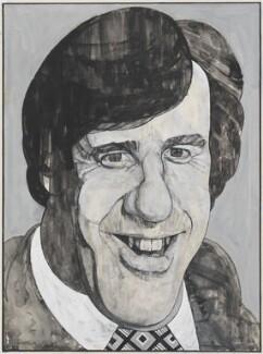 Russell Harty, by Barry Fantoni - NPG 6781