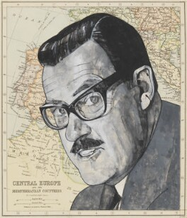 Alan Donald Whicker, by Barry Fantoni, 1975 - NPG  - © National Portrait Gallery, London