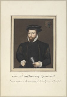 Called Clement Higham (Sir Clement Heigham), attributed to Thomas Athow, after  Unknown artist, early 19th century - NPG  - © National Portrait Gallery, London