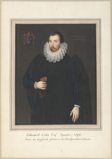 Sir Edward Coke, attributed to Thomas Athow, after  Unknown artist, after  Cornelius Johnson (Cornelius Janssen van Ceulen) - NPG D23256