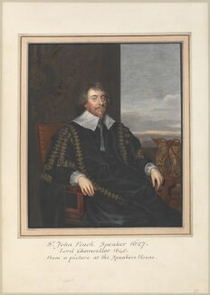 John Finch, Lord Finch of Fordwich, attributed to Thomas Athow, after  Unknown artist, probably after  Sir Anthony van Dyck - NPG D23263