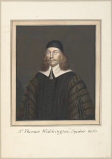 Sir Thomas Widdrington, attributed to Thomas Athow, after  Unknown artist, early 19th century - NPG D23267 - © National Portrait Gallery, London