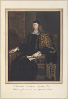 Sir Harbottle Grimston, 2nd Bt, attributed to Thomas Athow, after  John Riley - NPG D23268