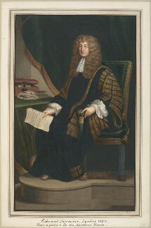 Sir Edward Seymour, 4th Bt, attributed to Thomas Athow, after  James Lonsdale, possibly after  Sir Peter Lely - NPG D23270