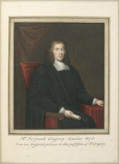 Sir William Gregory, attributed to Thomas Athow, after  Unknown artist - NPG D23272