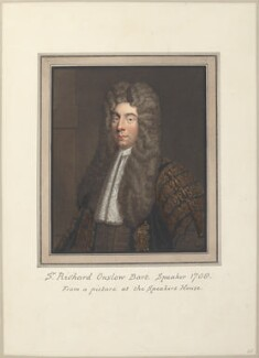 Richard Onslow, 1st Baron Onslow, attributed to Thomas Athow, after  Unknown artist - NPG D23277