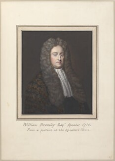 William Bromley, attributed to Thomas Athow, after  Thomas Phillips, after  Michael Dahl - NPG D23278