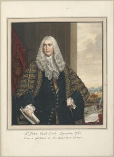 Sir John Cust, 3rd Bt, attributed to Thomas Athow, after  John Rising, after  Sir Joshua Reynolds - NPG D23282