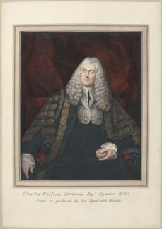 Charles Wolfran Cornwall, attributed to Thomas Athow, after  Thomas Phillips, after  Thomas Gainsborough - NPG D23284