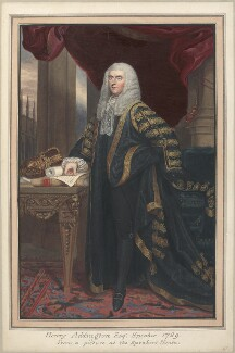 Henry Addington, 1st Viscount Sidmouth, attributed to Thomas Athow, after  Thomas Phillips, after  John Singleton Copley - NPG D23286