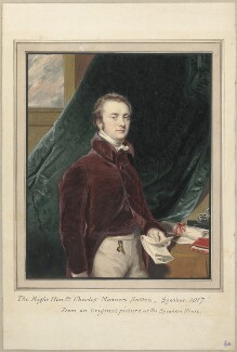 Charles Manners Sutton, 1st Viscount Canterbury, attributed to Thomas Athow, after  Unknown artist - NPG D23289